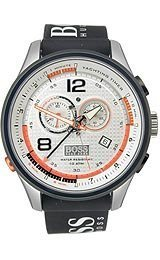Hugo Boss Regatta Silver Dial Black Rubber Mens Watch 1512501 by HUGO BOSS