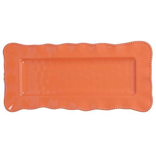 Certified International 27438 Perlette Coral Rectangular Platter 19
