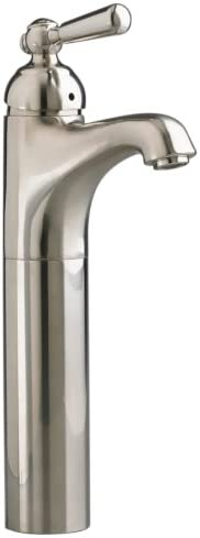 American Standard 4962.151.295 Ardsley Traditional Vessel Faucet with 3 8-Inch Compression Connectors and Grid Drain, Satin Nickel