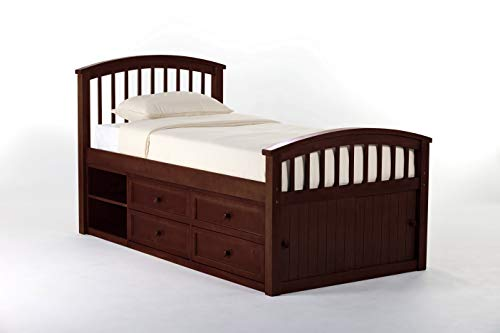 (Hillsdale Furniture 4070N Hillsdale Kids and Teen School House Twin Captain Bed Cherry)