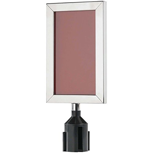 11 1/8'' x 8 5/8'' Chrome Finish Vertical Removable Steel Stanchion Sign Frame By TableTop King by TableTop King