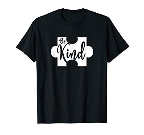 Be Kind Puzzle Piece Autism Awareness T-Shirt T-Shirt