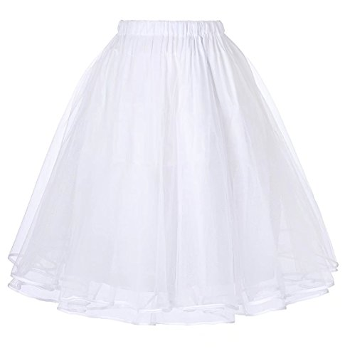 Ladies Petticoat for Homecoming Dress White 1X -