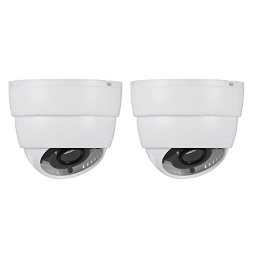 (uxcell Dome Security Camera Housing Case Mount Enclosure Replacement for Home Outdoor Indoor White 2pcs)