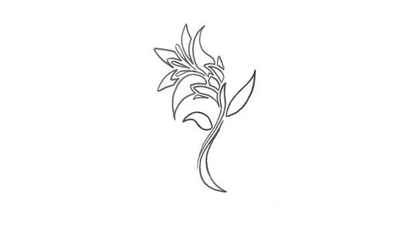 Tatuaje de la flor de lirio - pegatinas de vinilo pared Art Deco ...