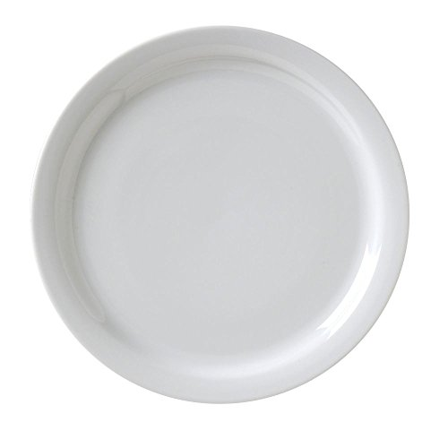 Vertex China CAT-16 Argyle and Catalina NR Plate, 10-1/2'', Porcelain White (Pack of 12) by Vertex China