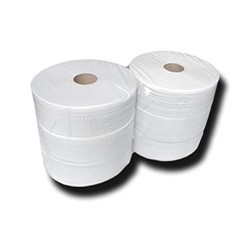 Jumbo wc-rollen 2-laags, premium wc-papierrollen, wc-rolrollen, scheurvast, wit, topkwaliteit