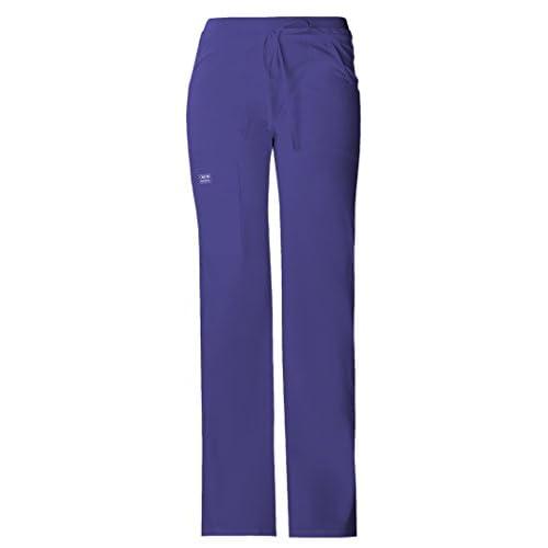 24703 V-Neck Top /& 24001 Low Rise Drawstring Cargo Pant Cherokee Workwear Core Stretch Womens Scrub Set