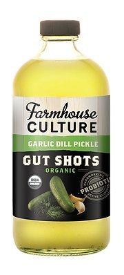 Farmhouse Culture Bev Gut Shot Garlic Dill Pickle, 16 oz
