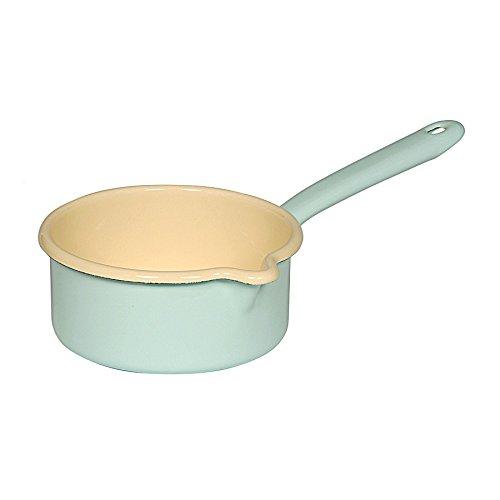 Enamel Milk Pot (casserole avec un grand bec. 14cm, 3 / 4L)