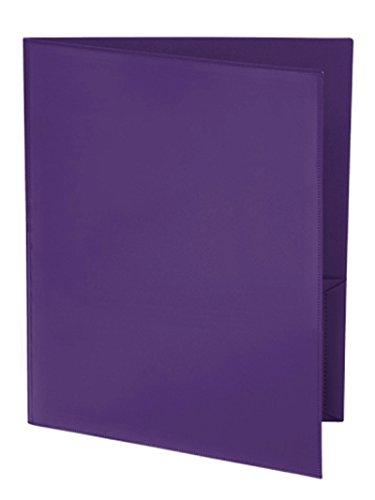 Ultra Pro - 10 pack, PURPLE 2-Pocket Folder with Clear Ou...