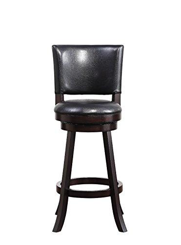 Boraam 64629 Faro Bar Height Swivel Stool, 29-Inch, Merlot (Cabinet Height Bar Stools)