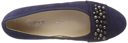 Gabor Women's Comfort Sport Closed Toe Ballet Flats, Blue Blue (Bluette Bluette 36)