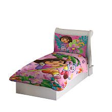 [Dora the Explorer and Boots 4pc Toddler Bedding Set New] (Dora Explorer Toddler Bedding Set)