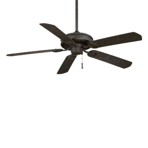Sundowner Outdoor Fan - Sundowner Black Iron with Aged Iron Accents Indoor or Outdoor 54