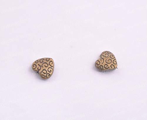 20Pcs Tibetan Silver Bronze Heart Charms Pendants Jewelry 9MM QL8A
