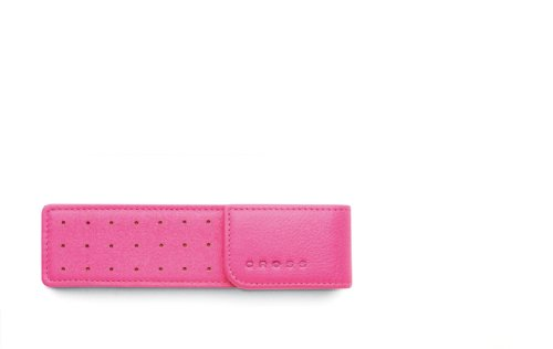 Cross Autocross Leather, Double Flip Top Pen Pouch, Pink (AC223-7)
