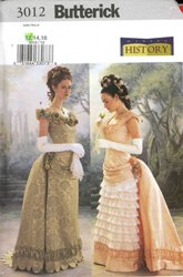 1870's to 1890's (Tombstone Era) Bustled Dresses Costume ()