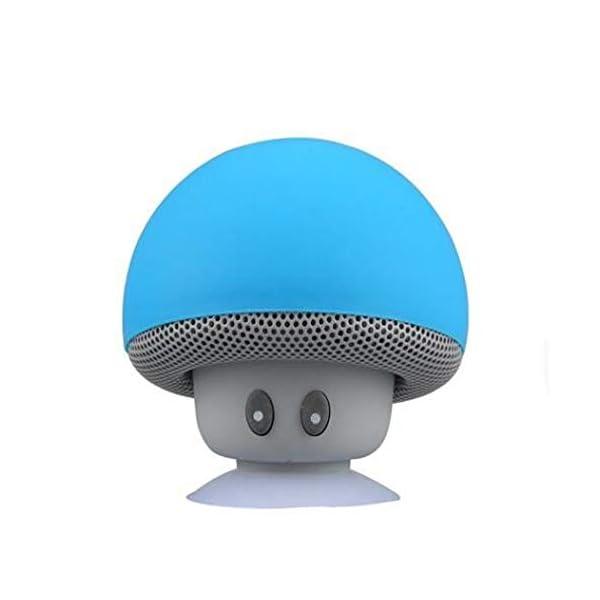 Haut-Parleur Portable Bluetooth étanche Voyage en Plein airBande dessinée Petit Champignon Bluetooth Haut-Parleur étanche Smart Petit Haut-Parleur Rouge 5.5cmx5.5cm 5