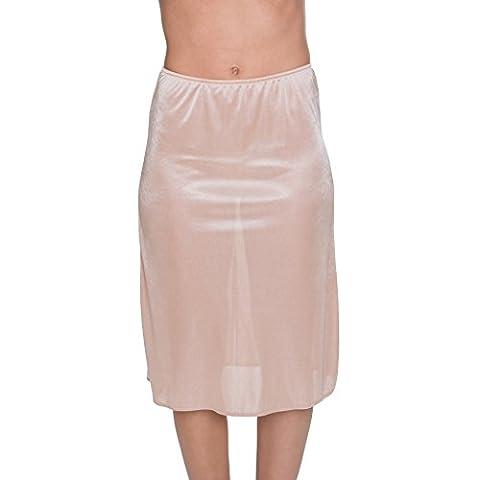 kathy ireland Women's Silky Soft 26 Inch Back Slit Half Slip Skin X-Large
