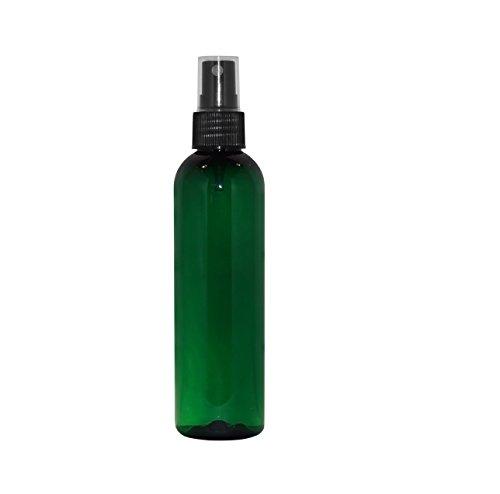 (WM (Bulk Pack of 24) 4 Oz Refillable, Reusable Empty Plastic Bottles w/Black Finger Spray Atomizer Cap – Mfg. USA DIY, Aromatherapy, Mists, Spritzers, Hydration, Arts & Crafts (Green))