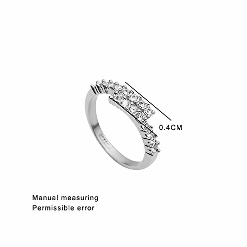 Dudee ZYR176 Concise Ring Champagne Rose Gold Color engagement rings ladies fashion rings