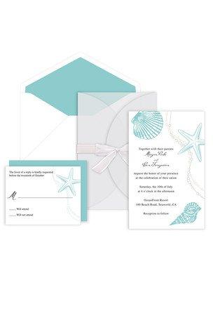 Seashells Deluxe Invitation Kit