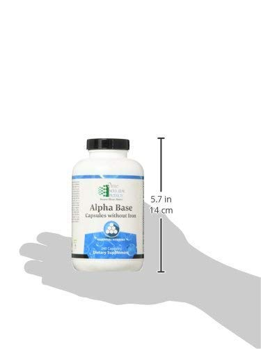 Ortho Molecular Products Alpha Base Caps Without Iron Capsules, 120 Count