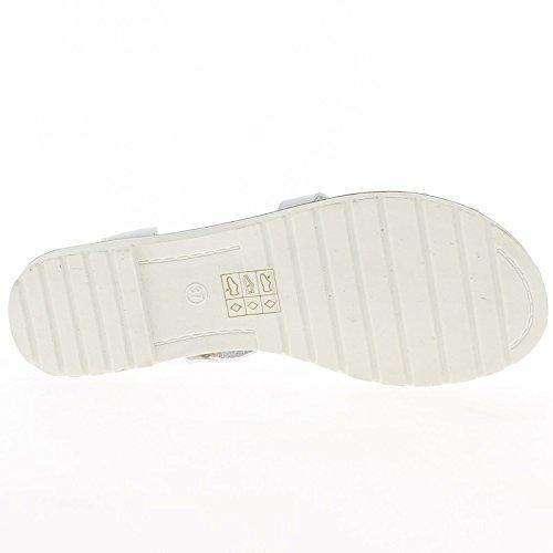 Sandali neri con bianco di cm 1 piccolo tacco suola