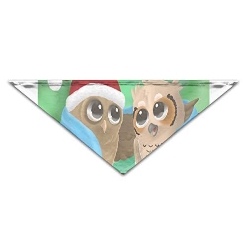 HJudge Dog Bandana Owl Christmas Dog Scarf Amazing Puppy Triangle