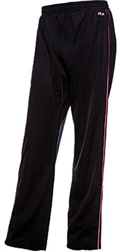 Fila Women's Work It Out Track Pants, Black, Black, White, XS (Womens Pants Fila)