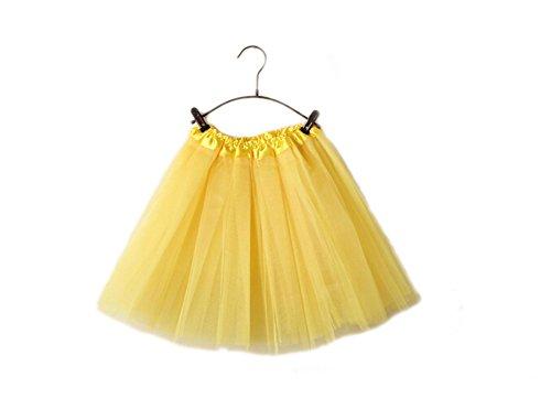 Mini Tutu Pettiskirt Danza Tulle Donne In Vestito Di Balletto Gonna Giallo Gtkc 405fwBqn