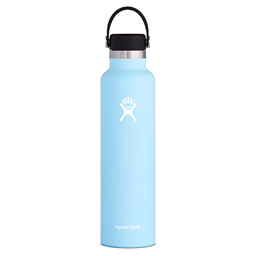 Hydro Flask Standard Mouth Water Bottle, Flex Cap – 24 oz, Frost