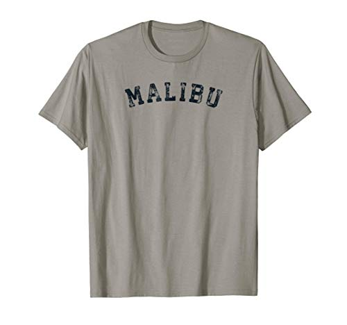(Vintage Malibu T Shirt Scrum Old Retro Sports Gift Tee 70s)