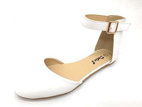 Ankle Fashion Strap Shoes Flats EASY21 Berry Women's Blue Casual White65 Ballet TY0O8wq
