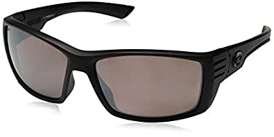 Costa del Mar Men's Cortez Polarized Rectangular Sunglasses, Blackout, 60.6 mm