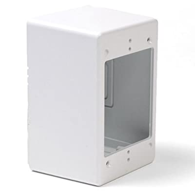 "Hellermann Tyton TSRW-JB3 2.77"" Single Gang Junction Box, PVC, White"