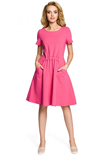 Clea an Taschen Gummi Kleid der Fuchsia mit Taille und rXrBn