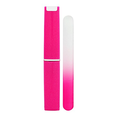 Nail Files by Flo Mini Fuchsia Glass File 9cm with - Flo Glass