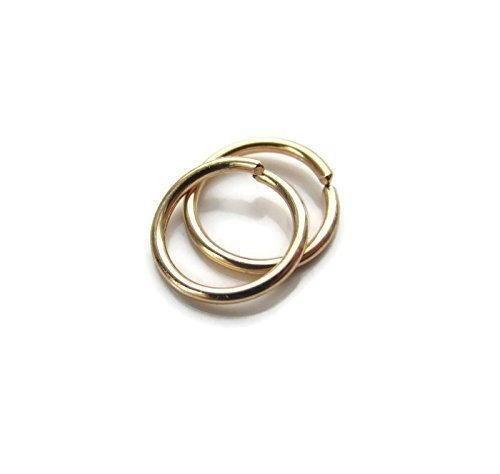 Handmade Tiny Mini Very Small Hoop Earrings Gold filled Snug Fit 7mm Designed by ()