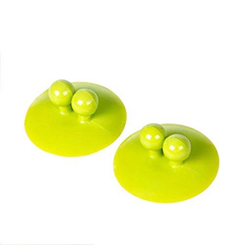 (YJYDADA Bathroom Vacuum Wall Strong Suction multifunction Holder Cup Hooks Hanger Sucker (Green))
