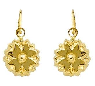 Diamantly Boucles D Oreilles Dormeuse Fleurs Or 375 1000 9