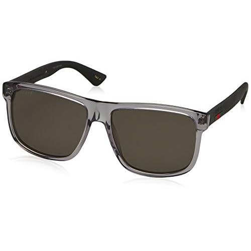 24e1c95e07 Gucci GG0010S, Gafas de Sol para Hombre, Gris (GREY-BLACK-GREY ...