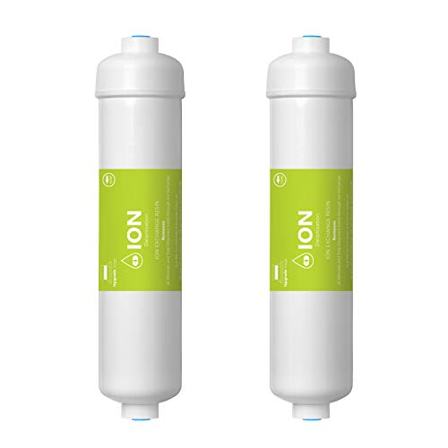 Express Water - Deionization Water Filter Replacement 2 Pack - DI Mixed Bed Purifier - 10 inch - Under Sink and Reverse Osmosis System (Mixed Bed Ion Exchange Resin)