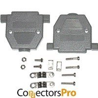 (Pc Accessories - Connectors Pro Gray Plastic Hood For DB-25 Pin Connectors, Short Screws, 50-Pack)