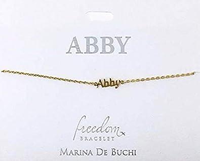 e7e13c89705e Personalizado Nombre pulseras de cadena chapado en oro - -Abby  Amazon.es   Joyería