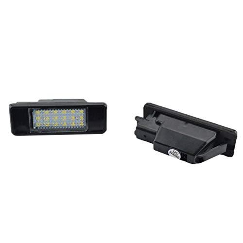 Xuanhemen for Citroen C3-C6 C8 Peugeot 106/207/308/406 1 Pair 18 LED Beads License Plate Light Car Accessory