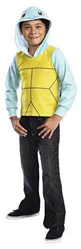 Rubie's UHC Boy's Pokemon Squirtle Hoodie Funny Theme Fancy Dress Child Costume, Child L (12-14)