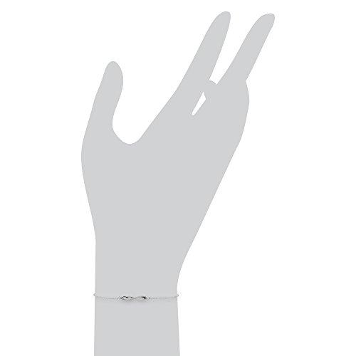 Gemondo et Bracelet diamant Or blanc 9 carats-Diamant 0,05 carat-Bracelet 19 cm