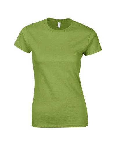 Gildan Ladies Softstyle rinspun camiseta verde S